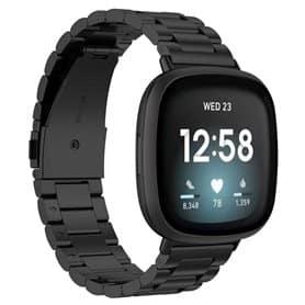 Armband rostfritt stål Fitbit Versa 3 - Svart