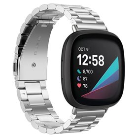 Armband rostfritt stål Fitbit Sense - Silver