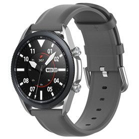 Läder Armband Samsung Galaxy Watch 3 (41mm) - Grå
