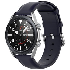 Läder Armband Samsung Galaxy Watch 3 (41mm) - Mörkblå