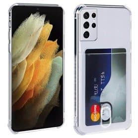 Silikon skal med kortplats Samsung Galaxy S21 Ultra