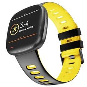 Twin Sport Armband Fitbit Sense - Svart/gul