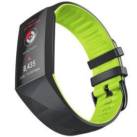 Twin Sport Armband Fitbit Charge 4 - Svart/lime