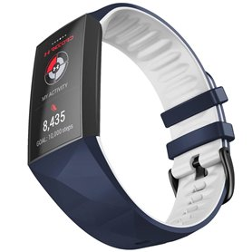 Twin Sport Armband Fitbit Charge 4 - Blå/vit