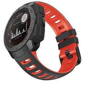 Twin Sport Armband Garmin Instinct - Svart/röd