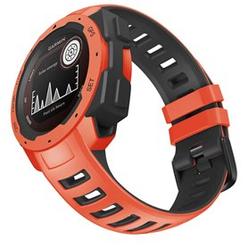 Twin Sport Armband Garmin Instinct - Orange/svart