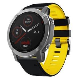 Twin Sport Armband Garmin Fenix 6 / 6 Pro - Svart/gul