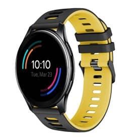 Twin Sport Armband OnePlus Watch 46mm - Svart/gul