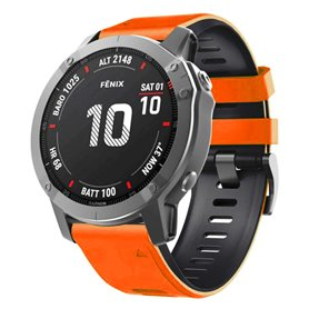 Twin Sport Armband Garmin Fenix 6X / 6X Pro - Orange/svart