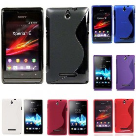 S Line silikon skal Sony Xperia E