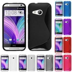 S Line silikon skal HTC ONE M8 Mini